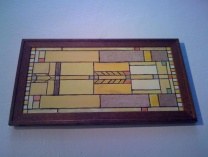 "A photo of ""Frank Lloyd Wright Meyer May House Stained Glass Window"""