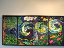 A photo of Noah's Ark Crayon Mosaic