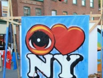 A photo of EYE Heart ART! - Live Colborative Mural